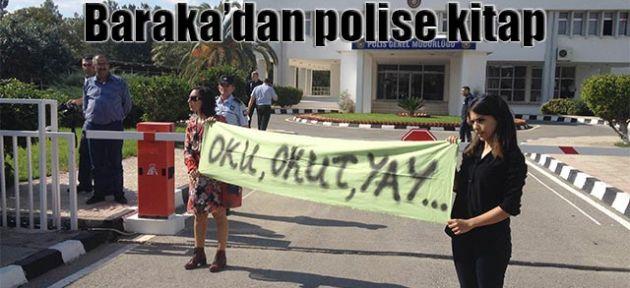 Aktivistler, PGM önünde pankart açtı