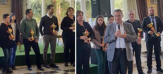 Girneli satranççılar ödüllendirildi