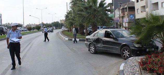 Gönyeli'deki kaza ucuz atlatıldı