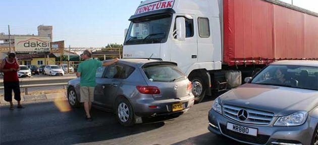 Hamitköy'de ilginç kaza