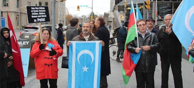 Kanada'daki protestoya  Kıbrıslı Türler de katıldı