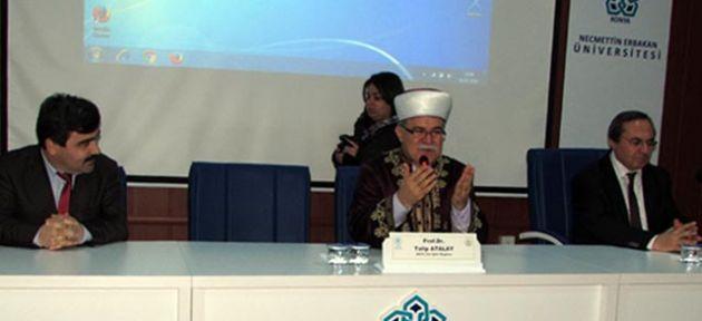 Konya'da gençlere konuştu