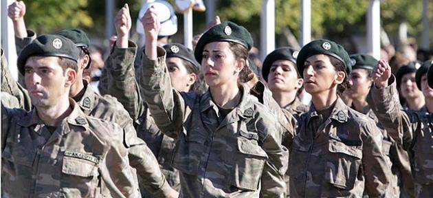 Rum ordusunda 282 kadın asker