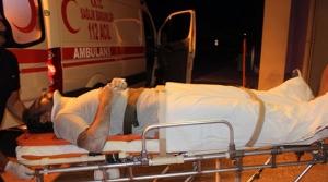Kalçasından yaralandı