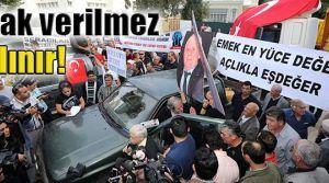 Narenciye üreticileri meclis önünde eylem yaptı