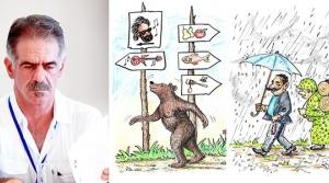 Tozakı'nın karikatürleri  İzmir'de sergileniyor