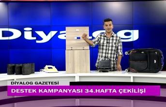 Diyalog Gazetesinin düzenlediği zengin hediye içerikli Destek Kampanyasının 34'üncü hafta çekilişi yapıldı