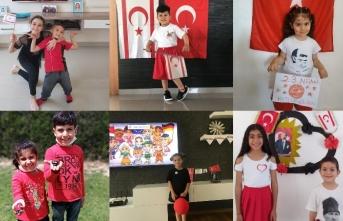Dünyanın Renkleri Kreş ve Okul Öncesi Eğitim Merkezi'nin minikleri 23 Nisan'ı kutladı
