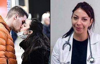 Evliler için öpüşme yasağı olmadığını söyledi