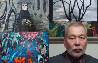 Moldakhmatov, Covid 19 ile mücadeleyi Kıbrıs Modern Sanat Müzesi için tuvale yansıttı
