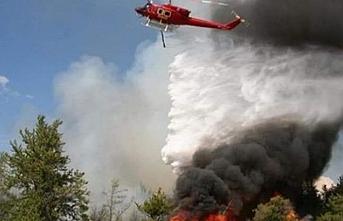 Tepebaşı yeniden yanıyor, helikopter yolda