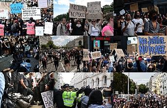 Dünyanın birçok ülkesinde 'Irkçılığa hayır' protestoları sürüyor