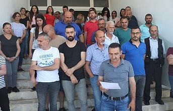 Mallara işlem yapan gümrük çalışanları darp edildi