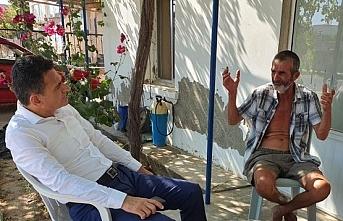 Bakan Oğuz eylemciyi ziyaret etti