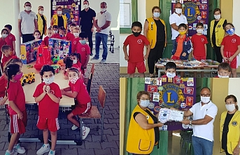 Girne Ada Lions Kulübü, Esentepe İlkokulu'na kitap ve oyuncak bağışladı