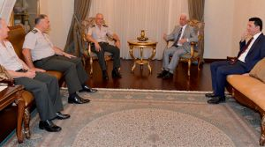 Cumhurbaşkanı Eroğlu, komutanları kabul etti