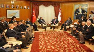Yorgancıoğlu Muharip Gaziler Derneği İstanbul Şubesi heyetini kabul etti.