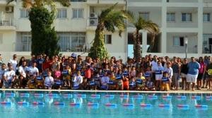 Yüzme yarışı yapıldı