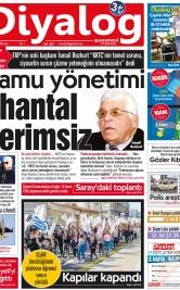 Diyalog Gazetesi - Kıbrıs'ta Haberin Merkezi - 16.11.2018 Manşeti