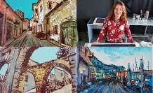 Sanatçı Ocheredko, sokakları ve antik limanı resmetti