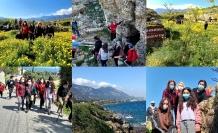 Kanser haftasında tarihi bölgeler ziyaret edildi