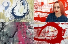 Sanatçı Anastasia Racovcena Coronavirüs ile mücadelede farkındalık yarattı