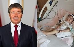 Asya bebek özel ambulans uçakla Ankara'dan Larnaka'ya, oradan da Lefkoşa'daki Makarios Hastanesi'ne aktarıldı