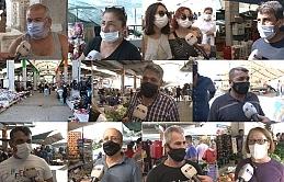 Pazar esnafı eskisi gibi satış yapamamaktan vatandaş ise fiyatların yüksek oluşundan dert yandı