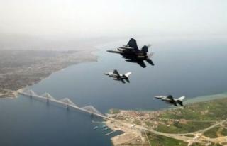 F-16'lar da katıldı