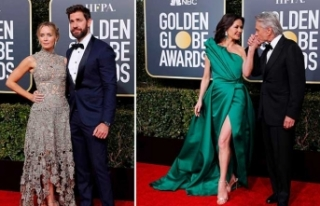 Altın Küre'de pek çok ünlü isim, eşleri, nişanlıları...