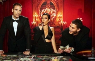 James Bond temalı doğum gününe katılan Kourtney...