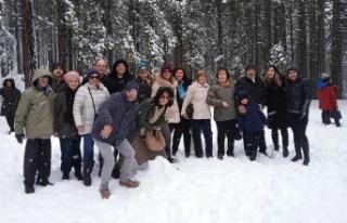 Kar sevinci yaşadılar