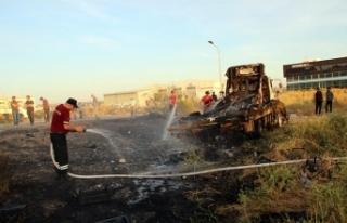 Alayköy'de korkutan yangın