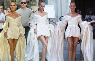Celine Dion, Paris Couture Haftası'ndaki stiliyle...
