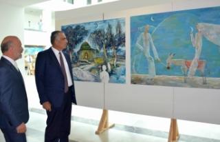 Özbekistanlı ve Kazakistanlı sanatçıların sergisi...