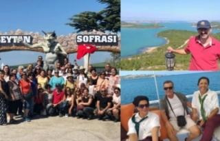Turizm Derneğinin düzenlediği gezi büyük ilgi...