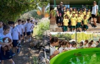 Alsancak ilkokulunun minikleri 'Hayvanları koruma'...