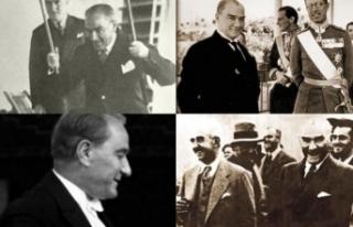Ulu önder Atatürk'ün daha önce görülmemiş...