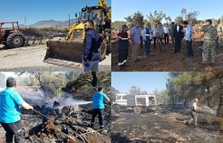Kuzey Kıbrıs'ın 9 ayrı bölgesinde dün yangın...