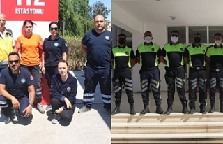 Sağlık ve polis ekipleri bayramda da iş başındaydı
