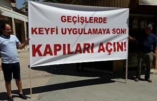 Esnaf Lokmacı'da eylem yaptı