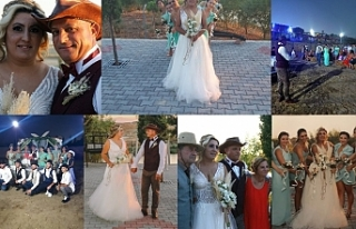 'Teksas' konseptli düğün