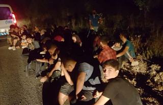 Kaçak giriş yapan 32 kişi yakalandı