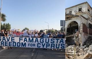Maraş'ın kısmı açılışına protesto
