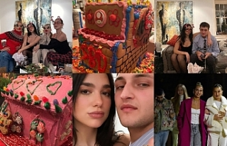 Dua Lipa, Gigi ve Bella Hadid, Noel'i evlerinde...