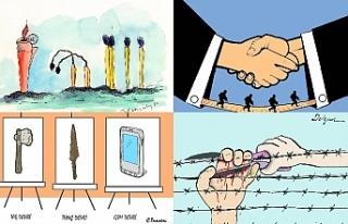 Kıbrıslı Türk karikatür sanatçıları, uluslararası...