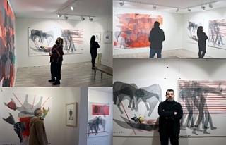Iraklı sanatçı Saleh Najjar'ın sergisi Kadıköy'de...