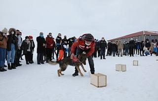 Mehmetçik, Hesarek Kayak Merkezi'nde öğrenciler...