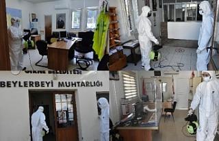 Sağlık ekipleri, Girne'nin çeşitli yerlerinde...