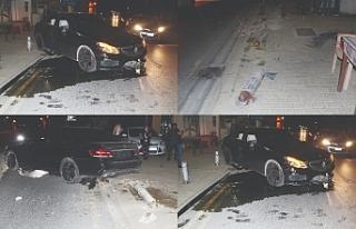 Mercedes Suriçi'ni dağıttı